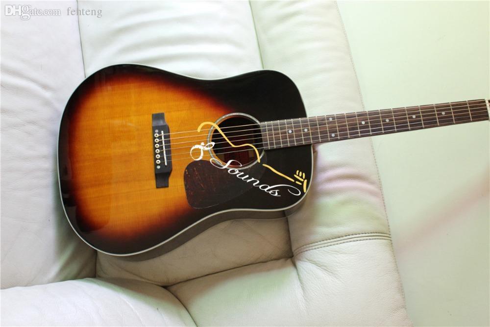 wholesale sunburst guitar 2015 new factory chibson j45 acoustic guitar replica j45 electric. Black Bedroom Furniture Sets. Home Design Ideas