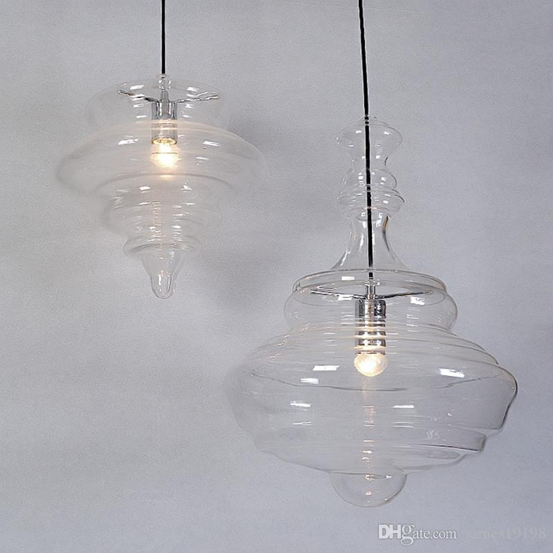Il trasporto libero nuovo modo caldo moderno di vendita personalità creativa lampada di pendente di vetro la sala da pranzo bar di caffè E27 lampadine del LED