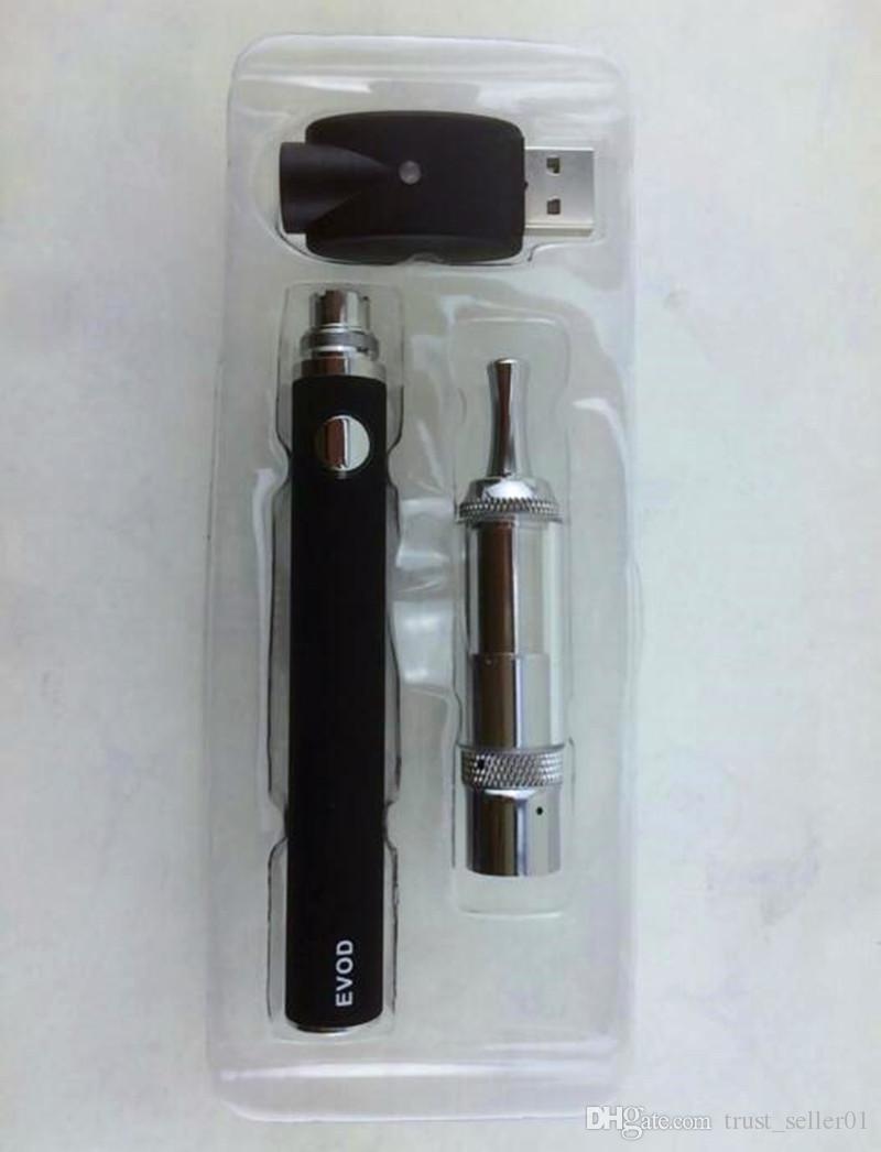 2016 Cloutank M3 건식 블리스 터 키트 ECigarette EVOD 건전지 M3 기화기 아토 마이저 왁스 Vape Pens 개조 된 eGo evod 시동기 키트