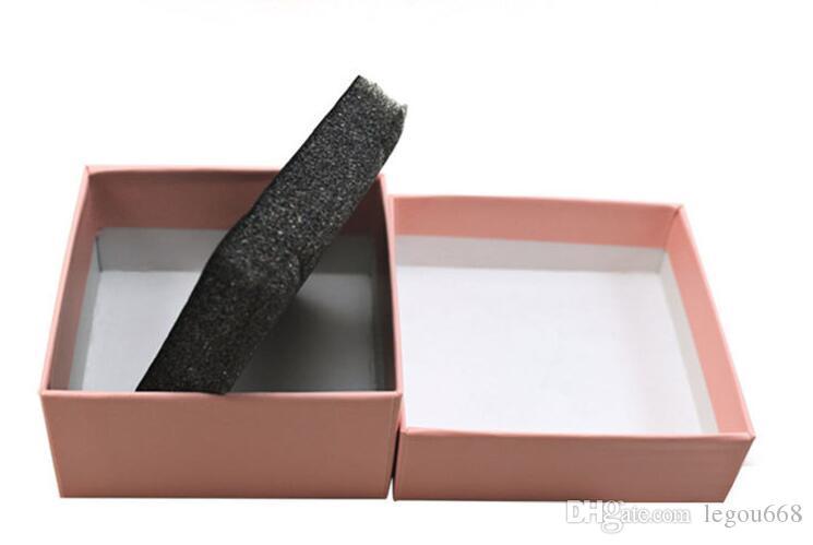 7.3 * 7.3 * 3,5 cm Weiß Pink Box für Schmuck Halskette Anhänger Geschenk Verpackungskästen Ring Ohrring Carring Cases G1162