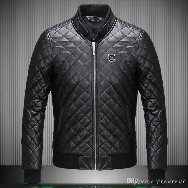2017 Motorcycle Winter Pilot Coat 2015 Skull Brand Mens Leather ...