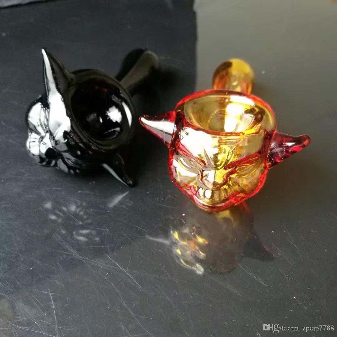 Die neue Farbe Schädel Knochen Rohr, Großhandel Bongs Ölbrenner Rohre Wasserleitungen Glasrohr Oil Rigs Rauchen Kostenloser Versand