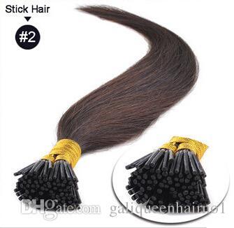 الكيراتين الطبيعية كبسولة prebonded أنا تلميح الشعر التمديد شقة تلميح الشعر التمديد 18