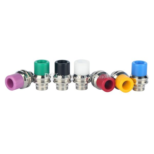 Newest Rich Colors 510 Wide bore Drip Tips Stainless steel & POM Drip Tip 510 Atomizer Mouthpieces EGO Evod Vaporizer RDA box mod ecigs