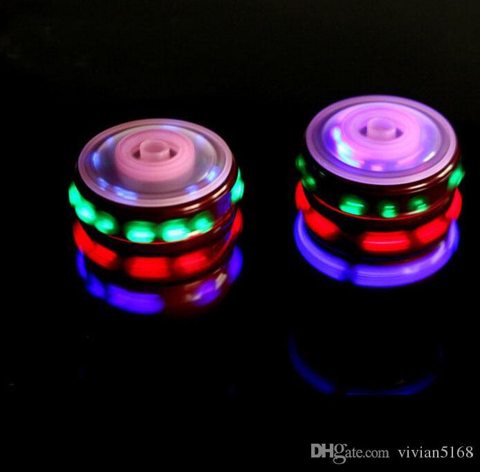 Magie Musique Gyroscope Jouet Gyro Spinner Spinning LED Whirling Enfants UFO Seul Laser Coloré LED Peg-Top Jouet Cadeaux De Noël Cadeaux Gratuit DHL