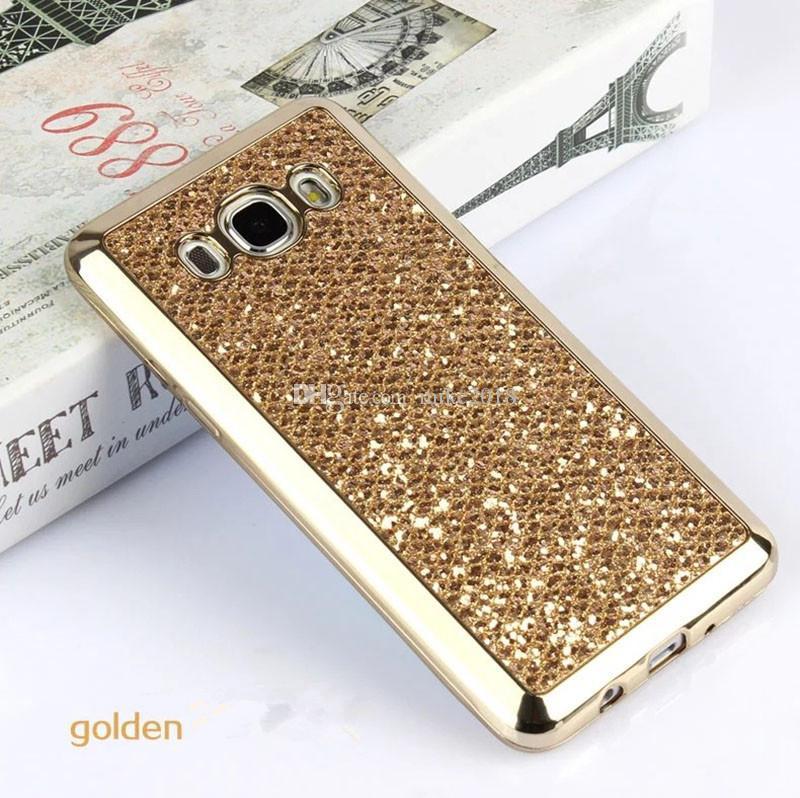 Cas de mode Bling Glitter pour Samsung Galaxy S7 bord S6 S5 Neo S4 Plus S8 Plus A3 A5 2017 J1 J3 J5 J7 2016 Grand Prime G531 530