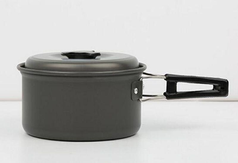 New Camping Kitchen 2-3 People Camping Cookware Pot Set Portable Camping Pot Set Outdoor Cooking Utensils Hard Aluminum Alloy Pan Set