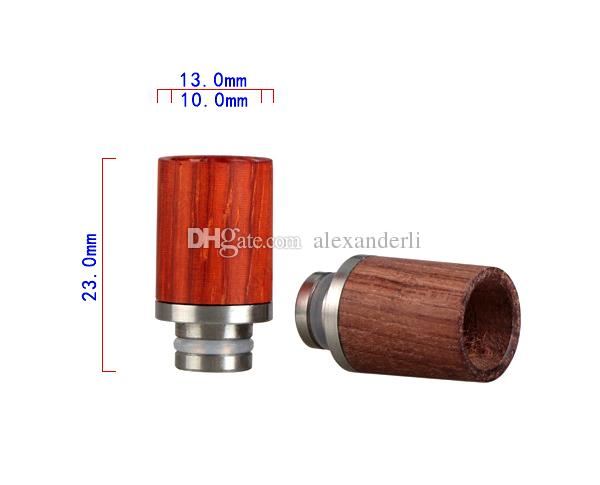 E Cigarettes Wood Drip Tips 510 Drip Tips With Stainless Steel Flat Fit EGO 510 Atomizers RDA Aspire Tank E Cig Wooden Mouthpiece