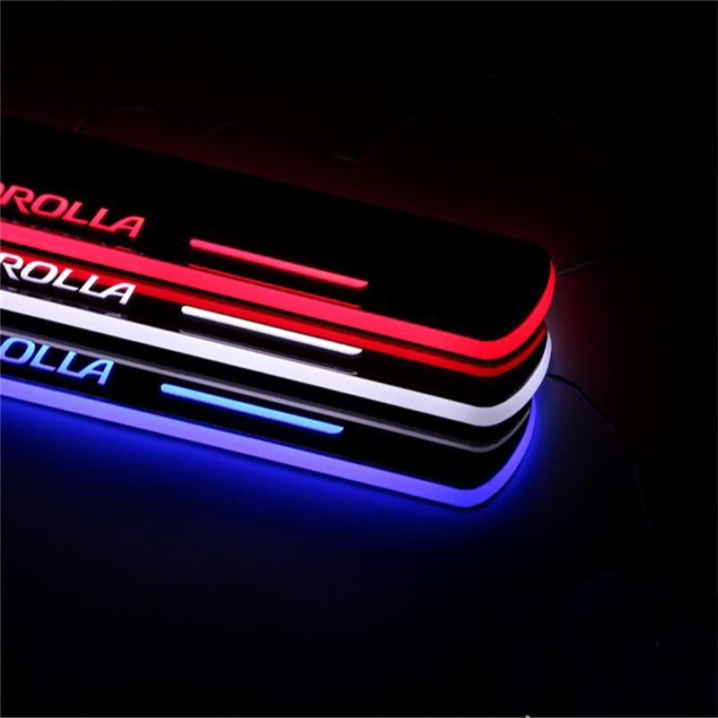 2018 Welcome Pedal Car Styling Illuminated Led Light Door Sill Rubbing Strip Threshold Decoration For Toyota Corolla 2014 2015 From Mcdnyw $24.12 | Dhgate. & 2018 Welcome Pedal Car Styling Illuminated Led Light Door Sill ... pezcame.com
