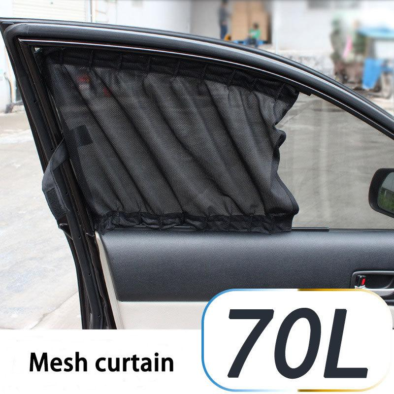 Hot Sell Black Mesh Fabric 70l Car Auto Window Curtain Sunshade Set Uv  Protection Side Window Curtains 70*47cm Cias024 Buy Cup Holder For Car  Camping Drink ...