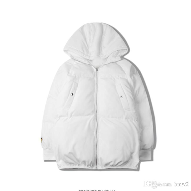 Зимняя куртка мужчины куртка новое прибытие письмо Cartton вышивка хлопок-мягкий толстая парка теплые пальто с капюшоном