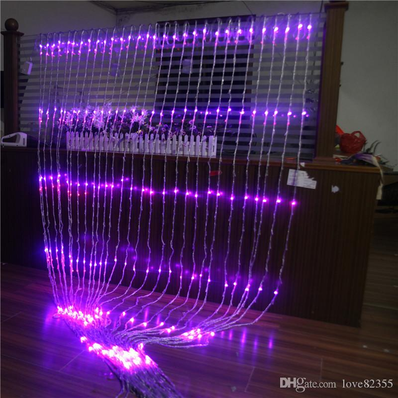New 3m x 3m Christmas Wedding Party Background Holiday Running Water Waterfall Water Flow Curtain LED Light String 336 Bulbs