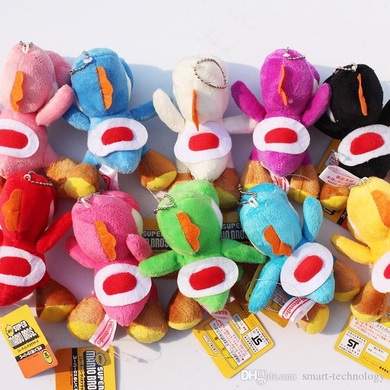 "Super Mario Bros Yoshi Plush Anime Soft Plush toy 4"" Keychain"