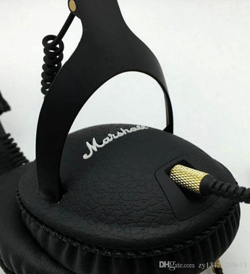 Marshall Monitor Auriculares Plegables con MIC Piel Cancelación de Ruido Auriculares Estéreo de Bajo Profundo Monitor DJ Hi-Fi Auricular Teléfono Auricular