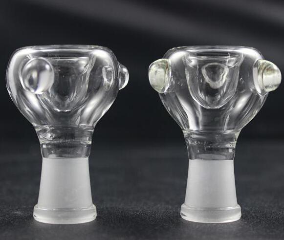 14mm / 19mm Женский стеклянный шар 14.5mm 18.8mm Стеклянный купол для воды Bong Стеклянный купол для пепельницы