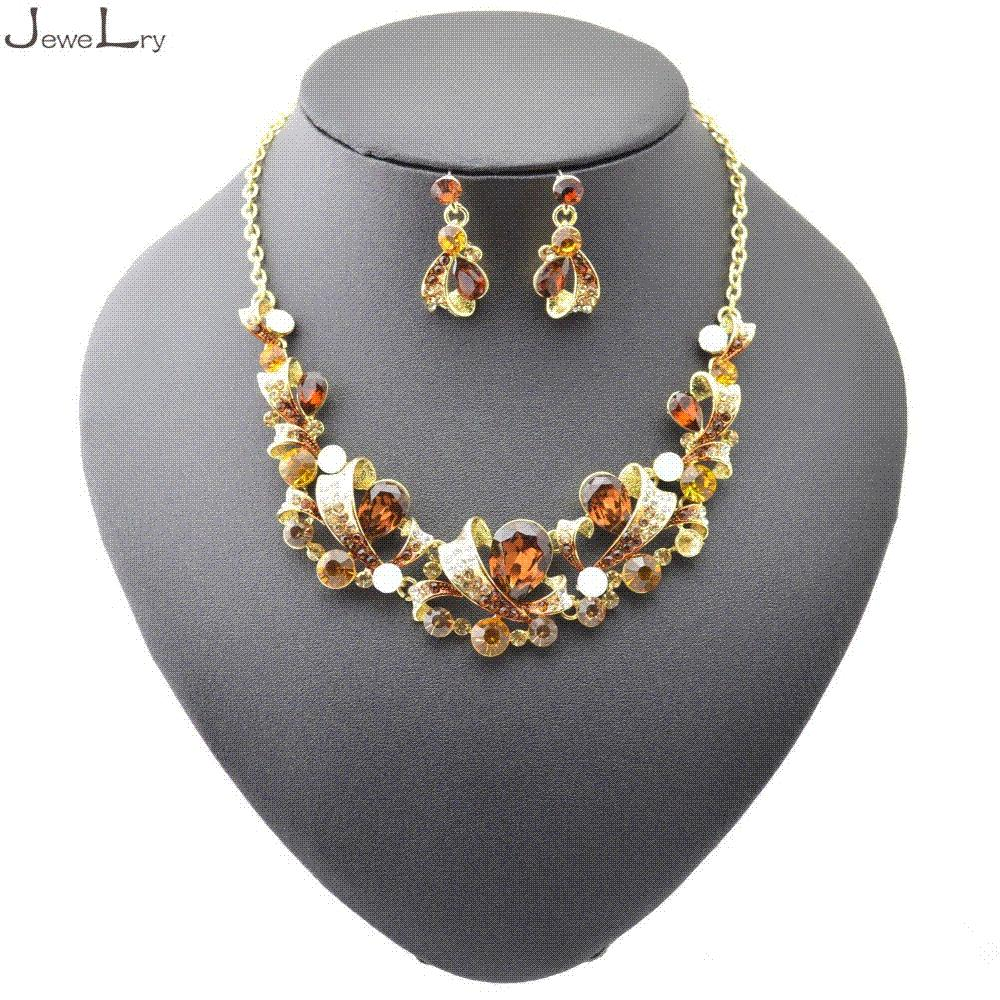 ST50039 Fashion Wedding Bridal Jewelry Sets Crystal Choker