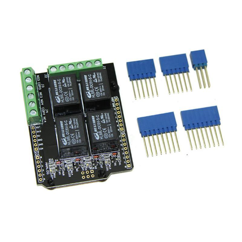 Relay Shield V2.0 Module Board for Arduino 4 Relays NO/NC Interfaces