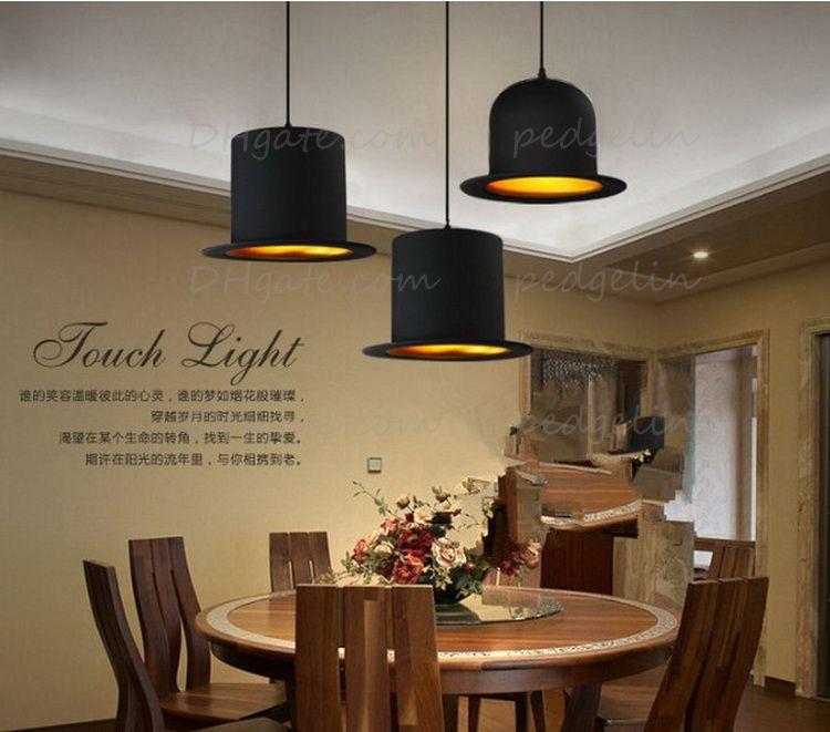 110v 220v e27 lamp holder Jeeves & Wooster Top Hat Pendant Light aluminum fedora hat light dining room bedroom Britain droplight