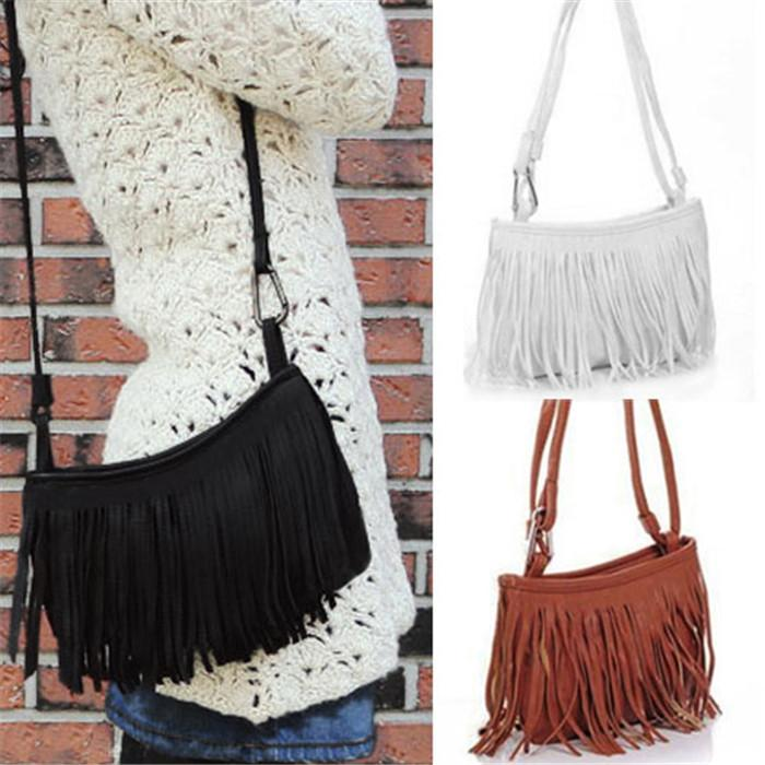 New Arrivals Women Bag Handbag Purse Tassels Fringe Faux Suede ...