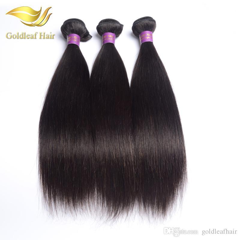 Wholesle price unprocessed Brazialian straight haiir hair weft Malaysian hair Peruvian Indian silk straight human hair extensions