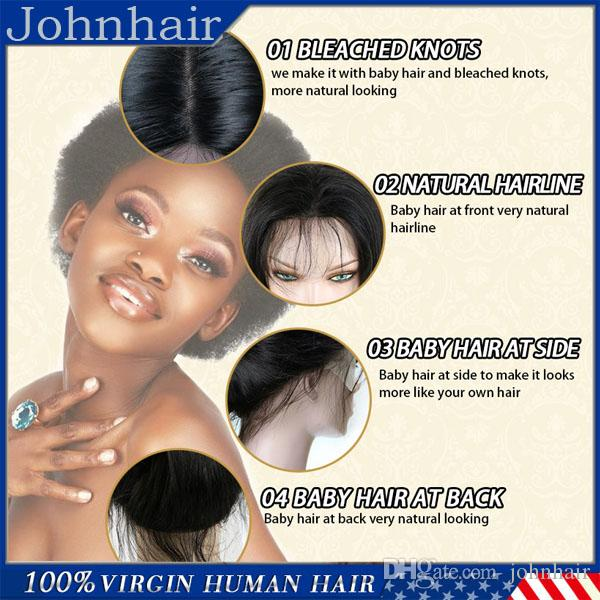 8A Short Human Hair Bob Wig Silky Straight Unprocessed Virgin Brazilian Glueless Full Lace Wigs / Lace Front Wig Bob Style For Black Women