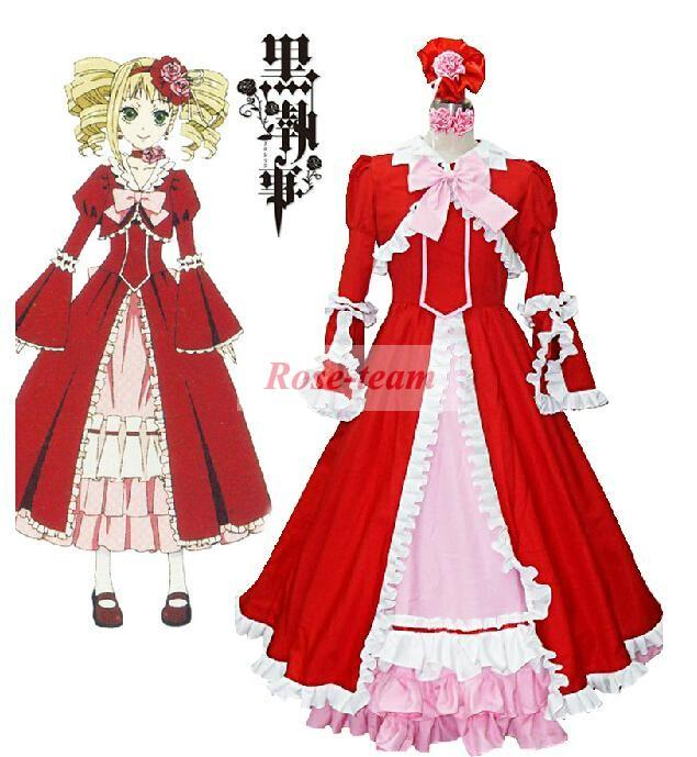 Lyjenny Anime Sexy Fancy Dress Halloween Christmas Carnival Black Butler  Elizabeth Red Lolita Dress Cosplay Costume Tailor Made Cosplay Costumes For  Sale ... 486127cba80f
