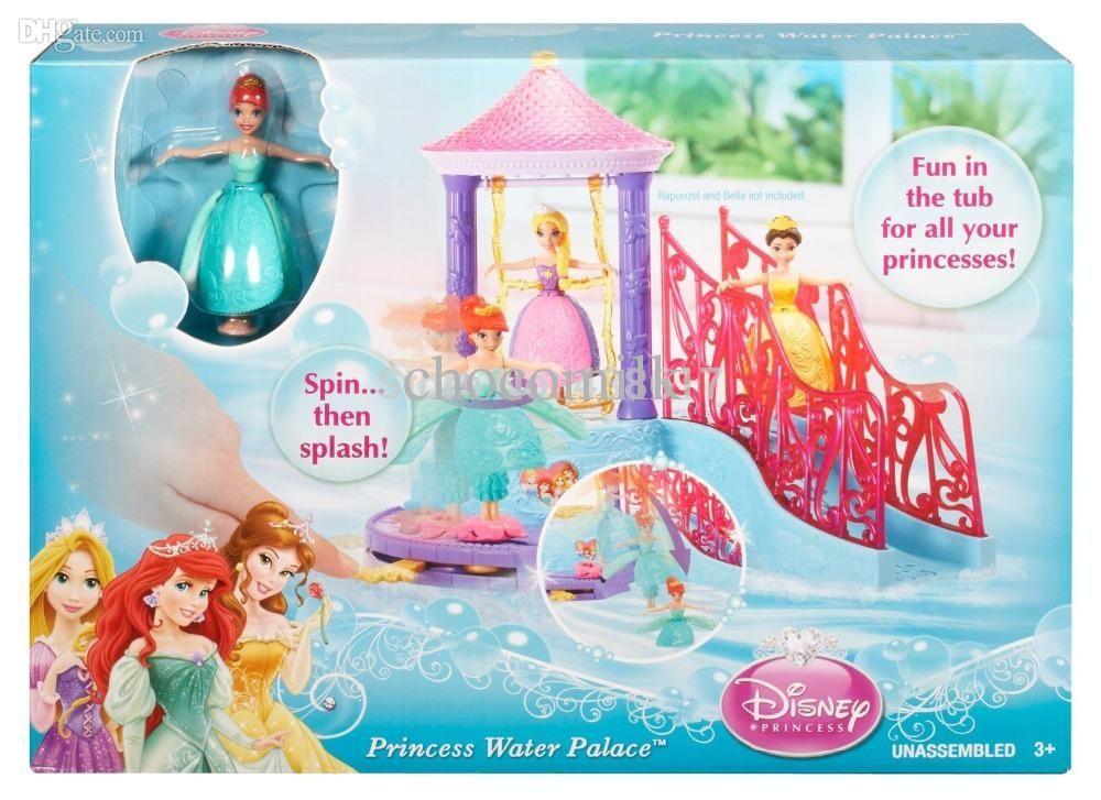 Original Disny Princess Water Palace Bath Playset Little Mermaid ...