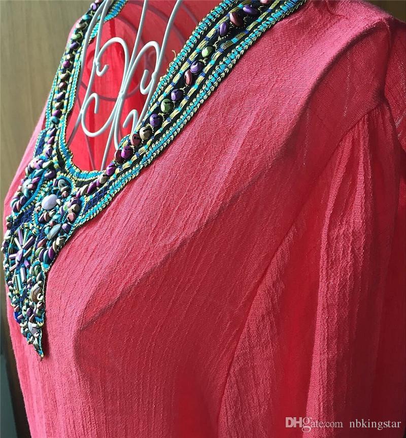 Lady Candy Couleurs Boho brodé Loose Half Sleeve Vêtements Plus La Taille T-shirt Tops Robe Taille Gratuite 7 Couleurs Livraison Gratuite