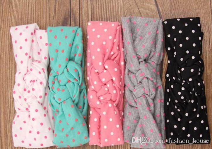 Princess Baby Kids Sand Beach Hair Bands Dots Knot Bandanas Child Hair Accessories Headbands Band rk778