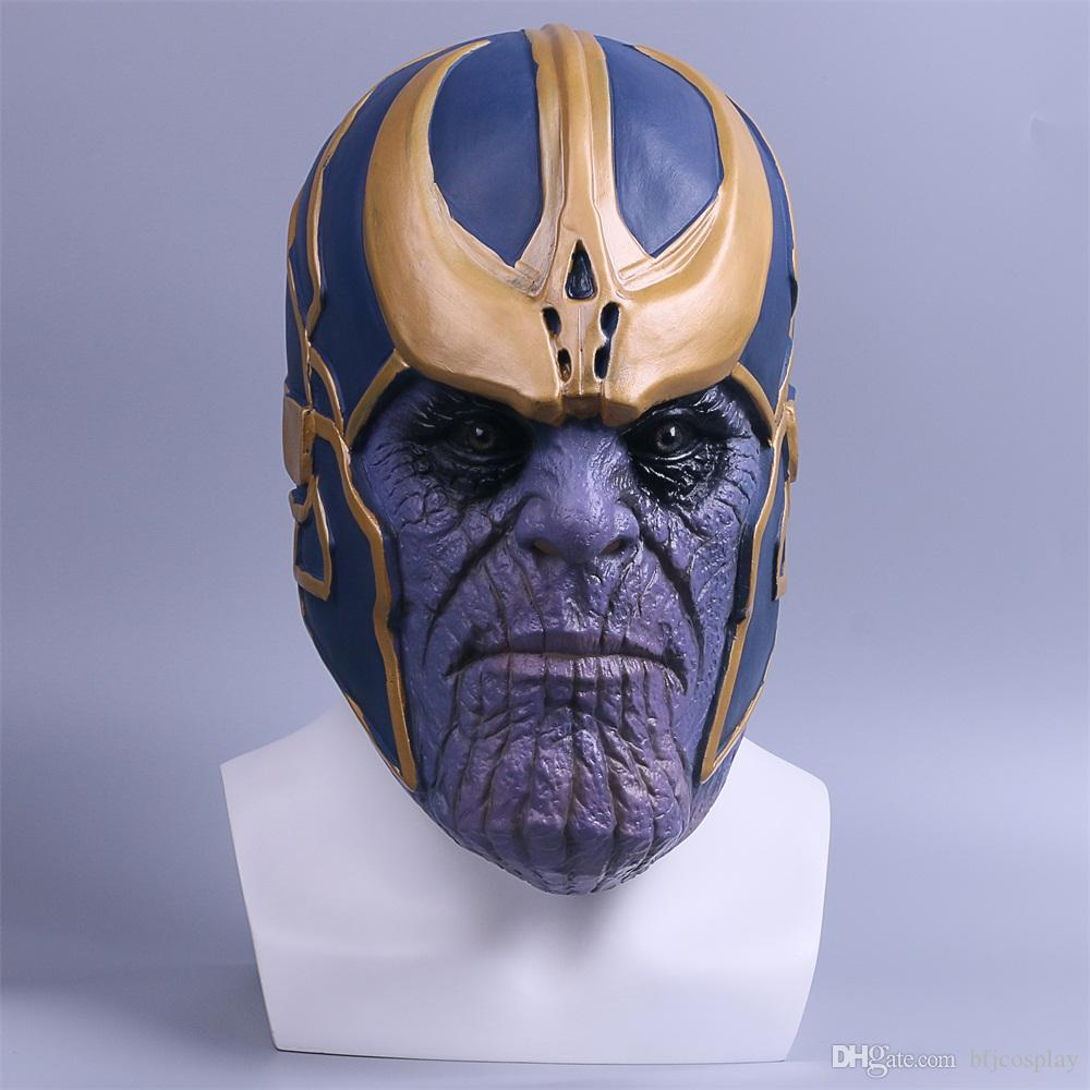 Thanos Mask Infinity Gauntlet Avengers Infinity War Gloves Helmet Cosplay Thanos Masks Halloween Props Christmas Gift High Standard In Quality And Hygiene Action & Toy Figures