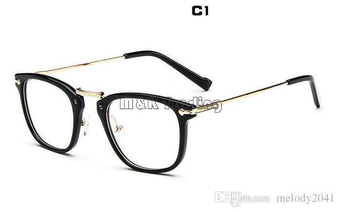 Compre Gafas Comprar Marco Cuadrado 2015 Moda Marco Óptico Vintage Metal  Tallado Mujeres Elegantes Gafas Mezclar Diferentes Colores A  3.0 Del  Melody2041 ... 8380716447