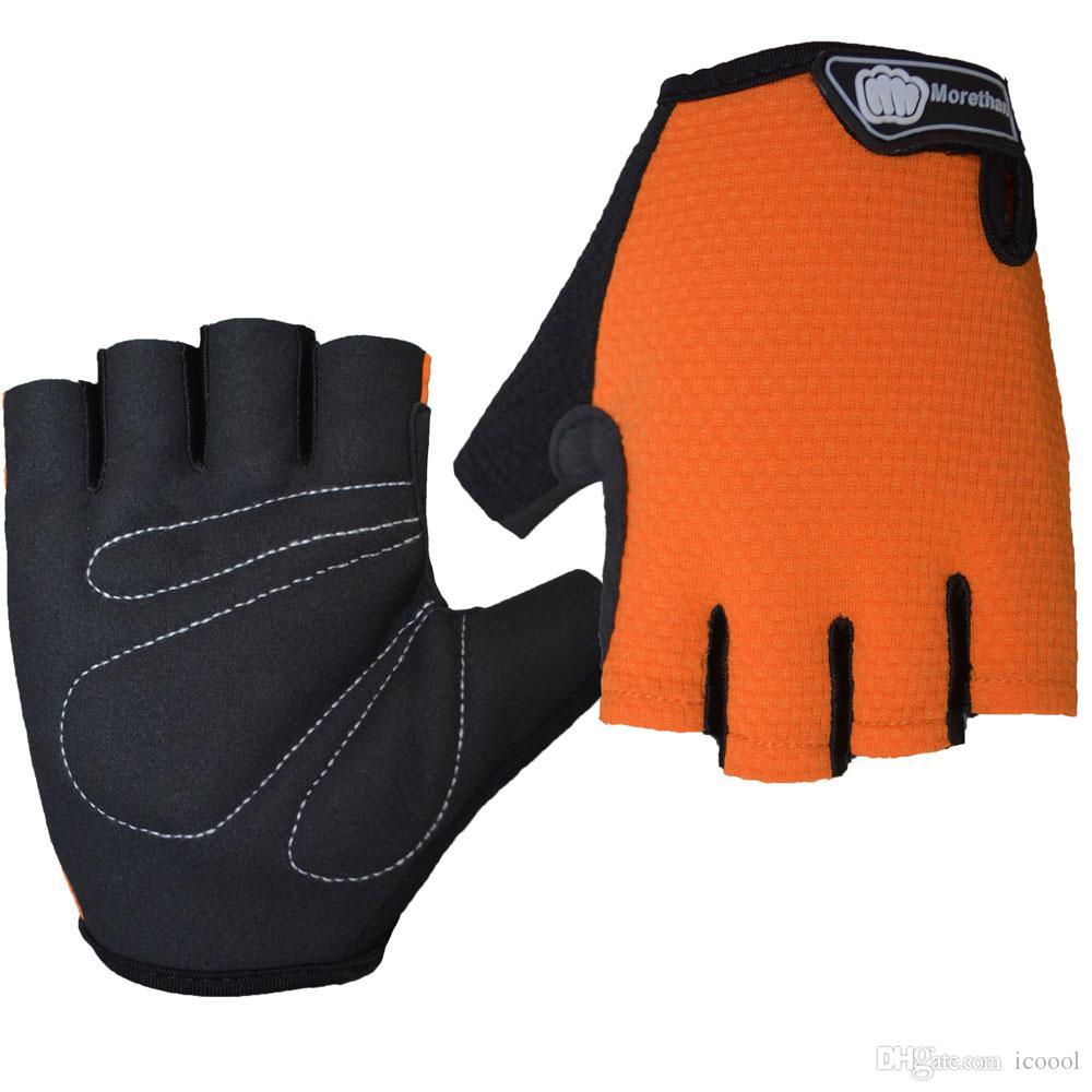 الجملة نصف اصبع قفازات ركوب الدراجات قفاز أصابع الدراجة الجبلية إصبع نصف MTB الإنحدار رياضة ركوب الدراجات الرجال النساء للياقة البدنية قفازات