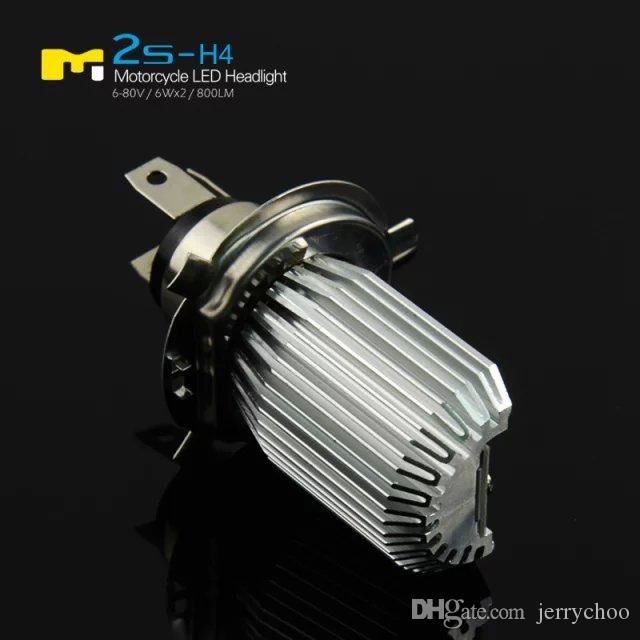 Hot Sale Super Bright 6W*2 12W LED Headlight COB high Beam Low Beam For Motorcycle 6-80V