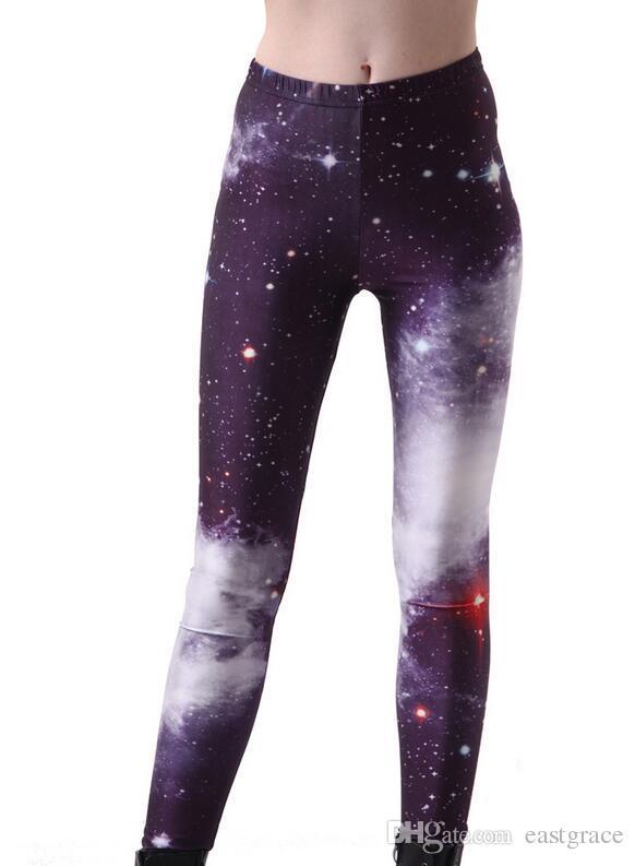 Polainas para mujeres Pantalones de yoga de impresión de seda de leche Medias de negro sexy de moda Pantalones de mujer de colores Pantalones de legging delgados al por mayor