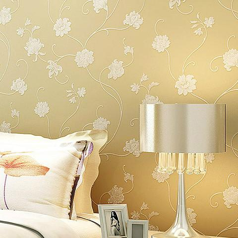 Non Woven Wallpaper Bedroom Living Room Garden Flowers Background Pink  White Champagne Wallpaper Beauty Salon Hotel Wallpapers On Desktop  Background ... Part 83