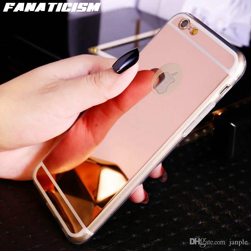 Mirror Phone Cases For iphone 11 pro XR XS Max 5s SE 6s 7 8 Plus Electroplating Chrome Ultrathin Soft TPU Silicone Cover