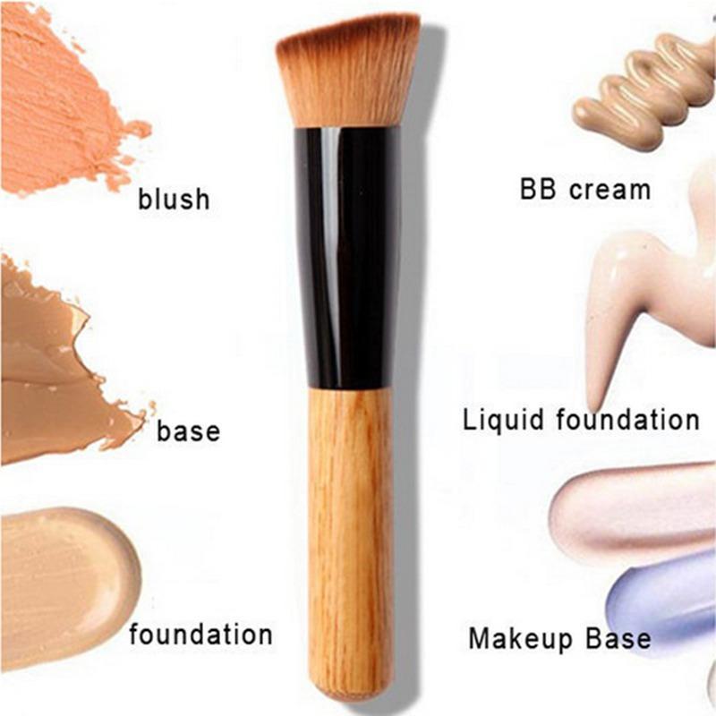 New Powder Oblique Style Brush Wooden Handle Multi