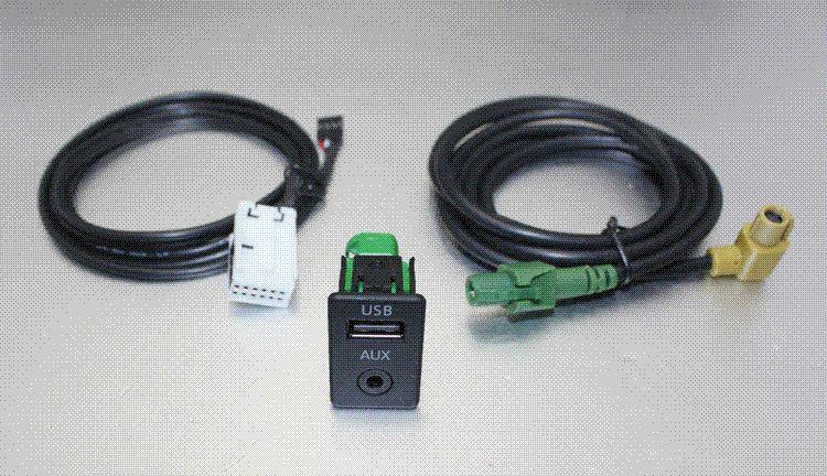 RCD300 RCD030 RCD510 RNS315 NAV230 AUX USB Switch Socket Cable For VW Golf  6 Scirocco Sagitar Touran Magotan New POLO car