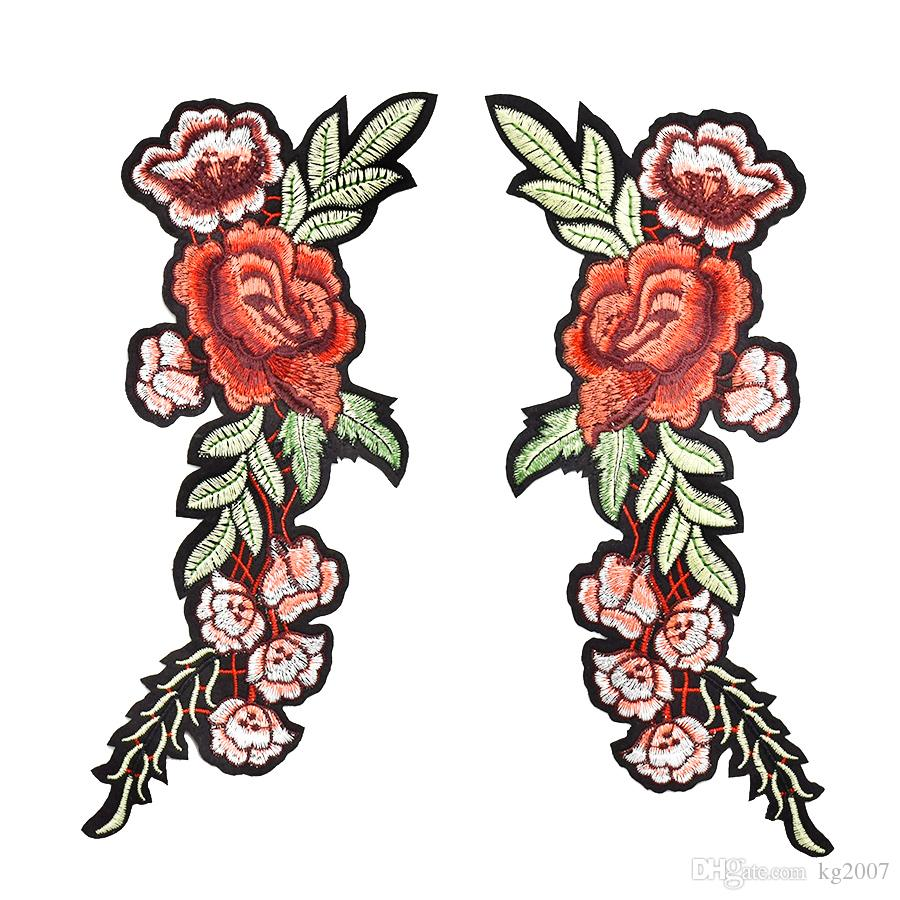 Flower Patches for Clothing Bags Iron on Transfer Applique Patch for Dress Sweater DIY Sew on Embroidered Stickers