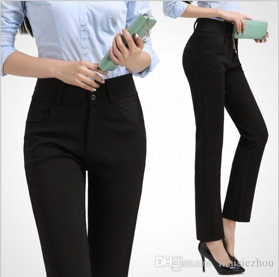 2017 New Fashion Ol Office Formal Straight Work Suit Pants Women ...