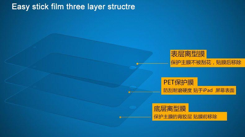 Klarer transparenter vorderer LCD-Schirm-Schutztablettenschutzfilm für ipad mini Luft 1 2 3 4 5 6 pro samsung kein Kleinhandelspaket