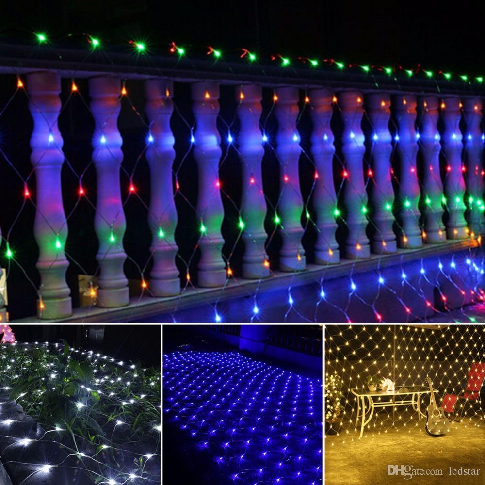 6bc60607db8 Compre LED NET Luces De Cadena Navidad Al Aire Libre A Prueba De Agua Net  Mesh Fairy Light 2m   3m 4m   6m Luz Del Banquete De Boda Con Controlador  De ...