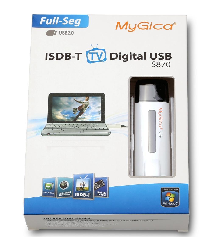 Full Seg ISDB-T GENIATECH Mygica S870 Digital TV USB Stick for Brazil  Argentina Peru Chile with Spanish, Portuguese language