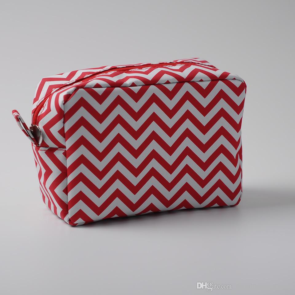 2019 Wholesale Blanks Polyester Material Chevron Make Up Bag Women Zig Zag  Cosmetic Bag With White Lining Free ShippingDOM001 From Domildiscountshop 29c850e728135