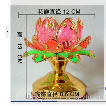 لون لوتس مصباح لوتس بتلات قبل المعبد بوذا بوذا مصباح صغير الإمدادات البوذية للمصابيح ضوء طويل
