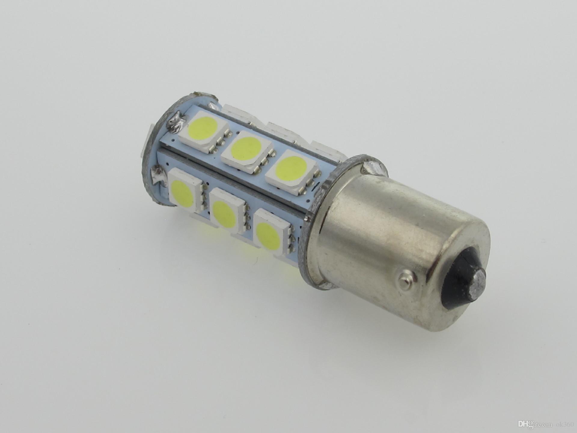 8SMD 5050 LED 1156 / BA15S / P21W / 67/89 / T25 Lampadina luce di retromarcia retromarcia auto bianco / rosso / blu