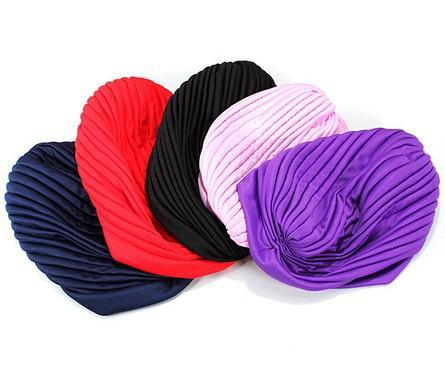 بسط العمامة رئيس التفاف الفرقة النوم قبعة الكيماوي باندانا الحجاب مطوي كاب كبير الحرير بونيه العمامة