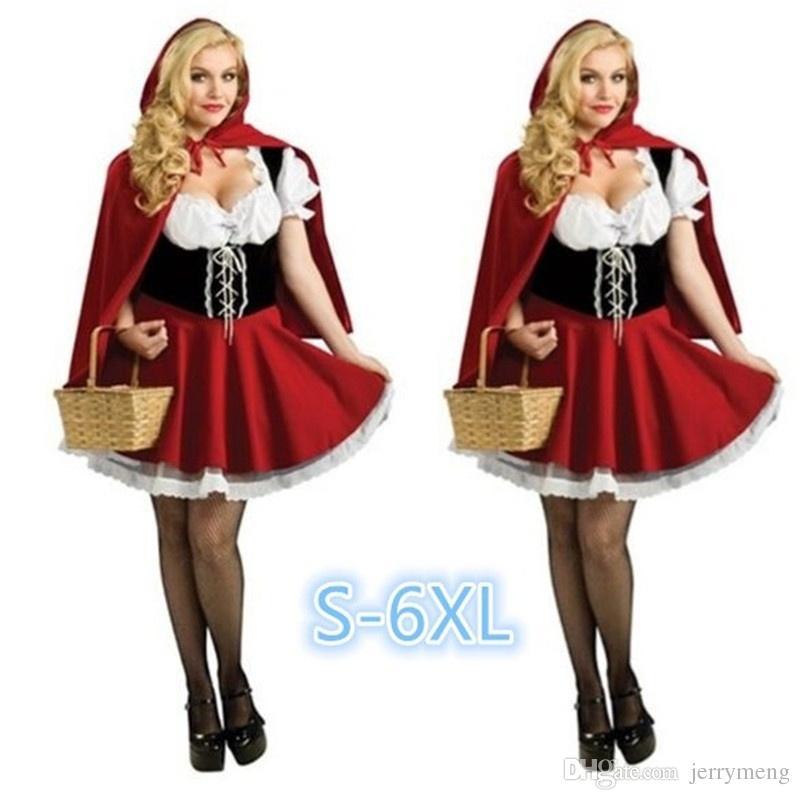 Acheter Costumes D Halloween Pour Les Femmes Sexy Cosplay Petit Chaperon  Rouge Fantasy Jeu Uniformes Uniforme Déguisement De  629.45 Du Jerrymeng  e16ed017fcf