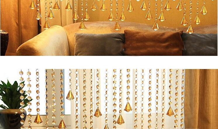 Delicate Crystal Bead Cortinas Transparente Ocho cuadrados Square Suspensión Cortinas Pretty Crystal Room Dividers Ocho colores 50m / LOT