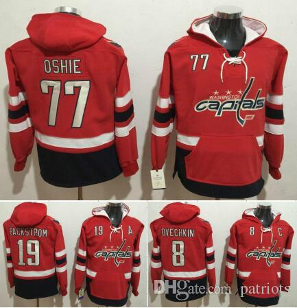 Washington Capitals Hockey Men Jerseys 8 Alexander Ovechkin 19 Nicklas  Backstrom 77 T.J Oshie Hockey Hoodie Hooded Sweatshirt Jackets Jersey UK  2019 From ... 2eabf71f6a12c